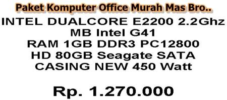 Paket Komputer Office Murah Bro..